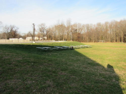 Boys' Field  Outdoor Lunch Tables